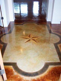 Lovely Etching Basement Floor