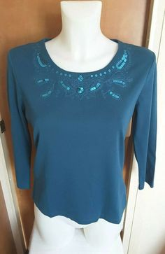 BB BNWT Falmer Heritage Embroidered Cobalt Blue Blouse Top size 8 10 14 16