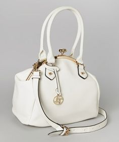 Loving this White & Gold Tote on #zulily! #zulilyfinds