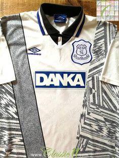 Official Umbro Everton away football shirt from the 1995/1996 season.
