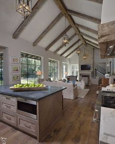 70 the best vaulted ceiling living room design ideas trendehouse 43 Cozy Kitchen, Kitchen Decor, Kitchen Ideas, Rustic Kitchen, Kitchen Designs, Kitchen Layout, Kitchen Interior, Kitchen Inspiration, Kitchen Tips