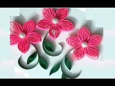 New : Art & Craft How to make Beautiful Quilling Pink Flower design -Paper Art Quilling, Show Your Crafts and DIY Projects. Quilling Flowers Tutorial, Quilling Butterfly, Paper Quilling Flowers, Quilling Paper Craft, Quilling Patterns, Quilling Designs, Flower Tutorial, Rangoli Designs, Quilling Videos