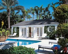 Indeed, people build pool house add beauty value to the owner's property. Find out most popular Pool House Ideas around the net here! Outdoor Spaces, Outdoor Living, Pool House Designs, Florida Design, Pool Cabana, Dream Pools, Beautiful Pools, Florida Home, My Dream Home