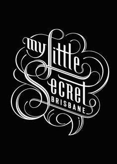 My Little Secret Branding by Paul Nolan, via Behance