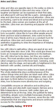 Libra And Aries Compatibility In Marriage