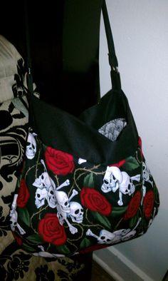 Ed Hardy inspired bag I designed #sewshabbydesigns