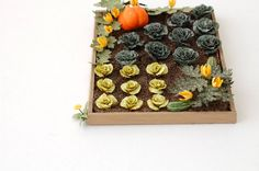 "A 1/24th or 1/2"" scale paper vegetable kit to make 10 Lettuce plants.    Beautiful for your vegetable garden or potager.    Easy to make, just"