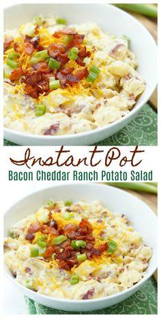 Instant Pot Bacon Cheddar Ranch Potato Salad