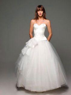 Vestido de Novia Strapless Corazón con Cintillo