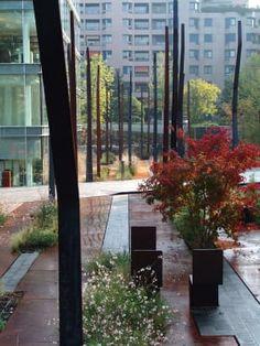 Urban garden by Agence TER Landscape Architects, Geneva, Switzerland. 2 million euro, 4600 sqm. New Urbanism, Landscape And Urbanism, Landscape Architecture Design, Garden Landscape Design, Urban Landscape, Landscape Architects, Modern Landscaping, Outdoor Landscaping, Contemporary Landscape