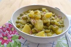 Zuppa di piselli e patate