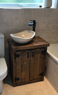 Rustic Bathroom Vanity for Sale . Rustic Bathroom Vanity for Sale . Refined Rustic Bathroom In 2020 Rustic Bathroom Cabinet, Home Depot Bathroom Vanity, Wood Bathroom Cabinets, Bathroom Vanities For Sale, Stone Bathroom Sink, White Vanity Bathroom, Unique Bathroom Sinks, Wooden Bathroom, Bathroom Ideas