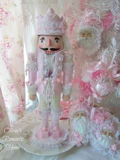 Gorgeous Pink Shabby chic Nutcracker! made by Olivia's Romantic Home Etsy <3 <3 <3 him :) xxx