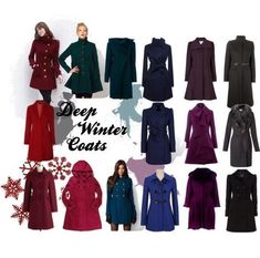 A fashion look from November 2012 featuring ASOS coats, GUESS coats and MaxMara coats. Browse and shop related looks. – color of life Deep Winter Palette, Deep Winter Colors, Dark Autumn, Dark Winter, Pink Martini, Rock Chic, Winter Typ, Capsule Wardrobe, Seasonal Color Analysis