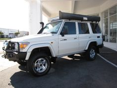 2011 Toyota Land Cruiser 76 4.2d Station wagon  - 106 305 kms for R 399 900. Full Service History, Immaculate Condition, ARB Bull Bar with Winch and Spot Lights, Bash Plate, Diff Protector, Old Man Emu Suspension, Adjustable Wild Dog Steering and Shock Damper System, 145l Fuel Tank, 2 x Invertors, Side and Rear Awning, Roof Racks with Sliding Table Solar Panel and Sand Trax, Triple Battery System, Fire Extinguisher and Tools, Drawer System with Cutlery. Touch Screen Media with Satellite…