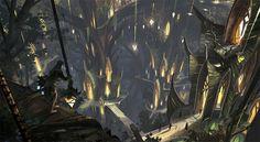 Image result for elven city concept art elven architecture