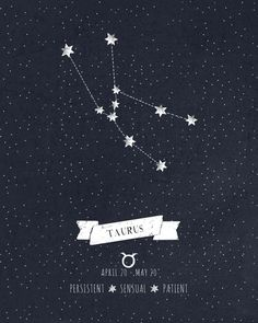 Taurus Constellation Print Art Print