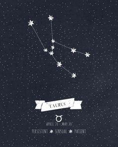 Taurus Constellation Print Art Print