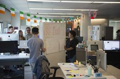 Why IBM built an office of movable whiteboard walls and dining room tables.