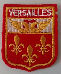 Versailles Coat of Arms Patch Sew On Travel Souvenir Vintage Collectible  #Unbranded