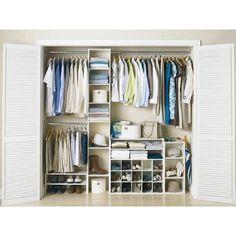 Perfect Home Essentials - 7 Shelf Closet Tower 4'-9'  - Antique White - PS301132SW - Home Depot Canada