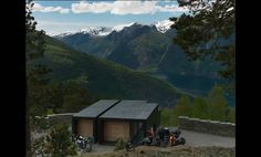 Saunders Architecture Aurland WC at scenic overlook.  Must be the most spectacular public toilet facility ever!