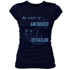 Navy Girlfriend Tee - Cute Navy girlfriend t-shirt