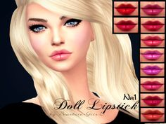 The Sims Resource: Doll Lipstick Nr.1 by Baarbiie GiirL • Sims 4 Downloads