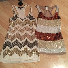 2 tank tops Brown one is an xs, white one is a medium. Tops Tank Tops