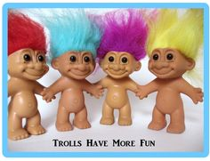 Loved my troll dolls! I had dozens of them! All colors.dressed 'em up, did their hair.I spent house with my troll dolls! 90s Childhood, Childhood Memories, School Memories, Frederique, Back In The 90s, 90s Toys, 80s Girl Toys, Troll Dolls, Care Bears