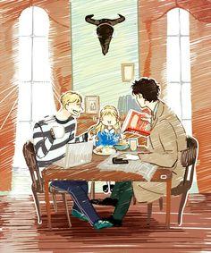 Rosie, John, And Sherlock cartoon - Google-Suche