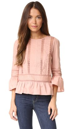 Love Sam Floral Threadwork Top   SHOPBOP SAVE UP TO 30% Use Code: MORE17