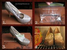 If you have shoes that are a skosh too small, you can apparently place them in the freezer with a Ziploc bag of water inside them.    Then, as the water freezes (and expands), it'll stretch the shoes. (Or so the idea goes—I haven't yet tried this myself.)