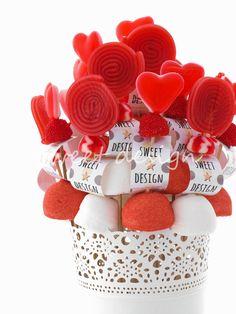 Centro de Brochetas Rojo & Blanco | Sweet Design