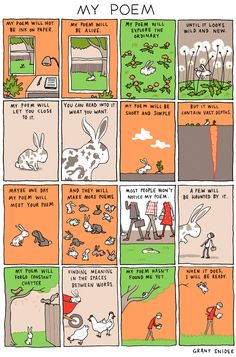 """My Poem"" Poster · Incidental Comics · Online Store Powered by Storenvy"