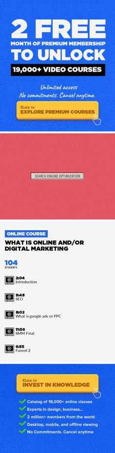 What is Online and/or Digital Marketing Marketing, Business, SEO, LinkedIn, Digital Marketing, Online Marketing, Facebook Marketing, Retargeting #onlinecourses #onlinetrainingsocialmedia #learningathometips   This is an amazing course for someone interested in understanding online marketing and all the main channels that are frequently used to promote products and services online. In this course, ...