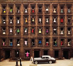 Girls in the Windows, 1960 by Ormond Gigli.