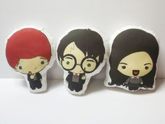 These adorable little Harry Potter dolls are hand made by me and are double sided! They naturally come as a set of three.