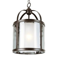 Trans Globe 6944 ROB Century Cylinder Shape Foyer Light, Rubbed Oil Bronze - Lighting Universe