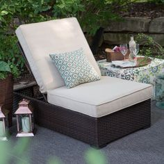 Belham Living Marcella Wide Wicker Lounge Chair - Your outdoor space is about to get a whole lot more comfortable with the Belham Living Marcella Wide Wicker Lounge Chair. This ultra-chic lounger set ...