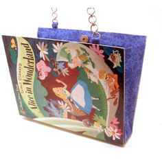 Alice In Wonderland Book Purse Clutch made from Upcycled Little Golden... ($54) ❤ liked on Polyvore