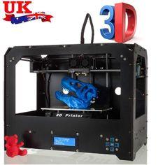 08313c1fbb580 EbuyChX BIZER Factory FDM Black Makerbot Replicator 3DPrinter 2 Extruders N  Black US Plug   Click