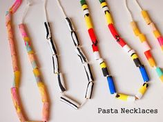 Pink Stripey Socks: Painting Valentine's Day and African Inspired Pasta Necklaces Mais African Crafts Kids, African Art For Kids, African Art Projects, South African Art, Pasta Crafts, Vbs Crafts, Camping Crafts, Neon Crafts, Daycare Crafts