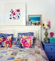 Romantic and Bold: Modern Florals for the Bedroom