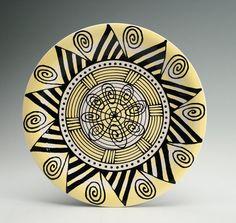 Bohemian Mandala Plate / Platter with Graphic by owlcreekceramics, $30.00