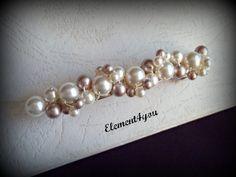 Pearl Bridal Barrette Wedding Barrette Beaded Pearl by Element4you, $25.00