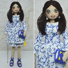 Моя самая высокая портретная  каркасная куколка (22 см). Завтра отправится в Россию : -)))) #dollphotography #dolls #collectiondoll #crochet #crocheting #handmadedoll #handmade #hobby #art #girl #knitting #knit #knitstagram #animedoll #miniature #zhlobin #minsk #belarus #подарок #кукла #ручнаяработа #хендмейд