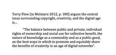 #TerryFlew #technology #creativity #FMCS3100