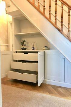 Under Stairs Nook, Under Basement Stairs, Bathroom Under Stairs, Basement Ceilings, Basement Bars, Kitchen Near Stairs, Basement Ideas, Under Stairs Pantry Ideas, Living Room Under Stairs