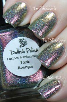 Dollish Polish - Toxic Avenger  Swatch by The PolishAholic
